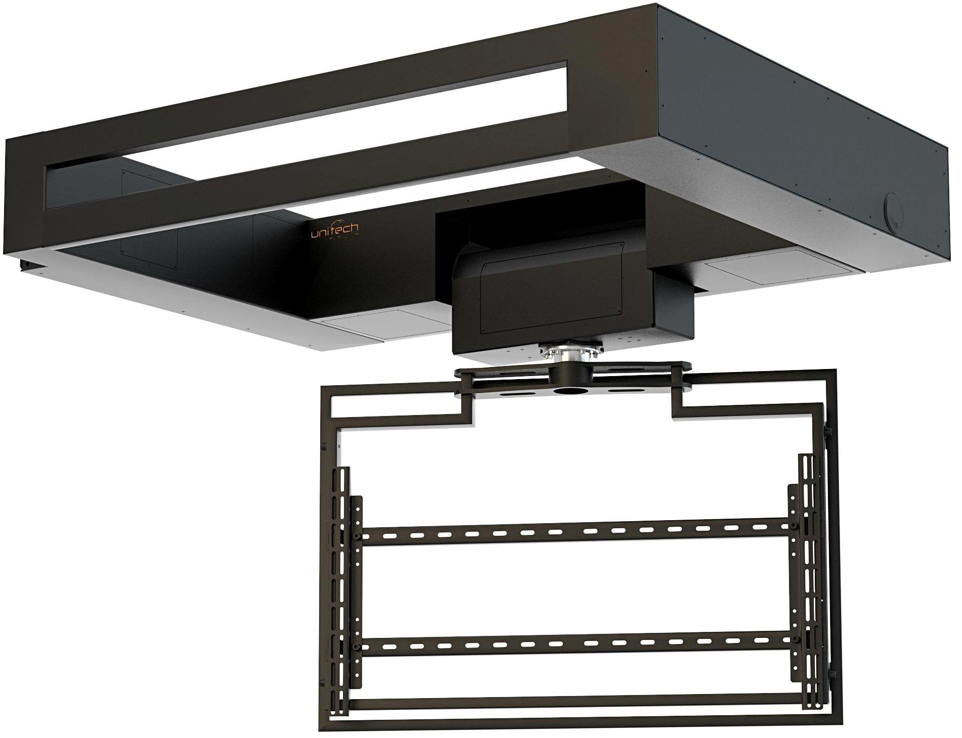 Flat Panel Ceiling Lift with Rotation FPLCV2SLIM52-60+R+LOCK